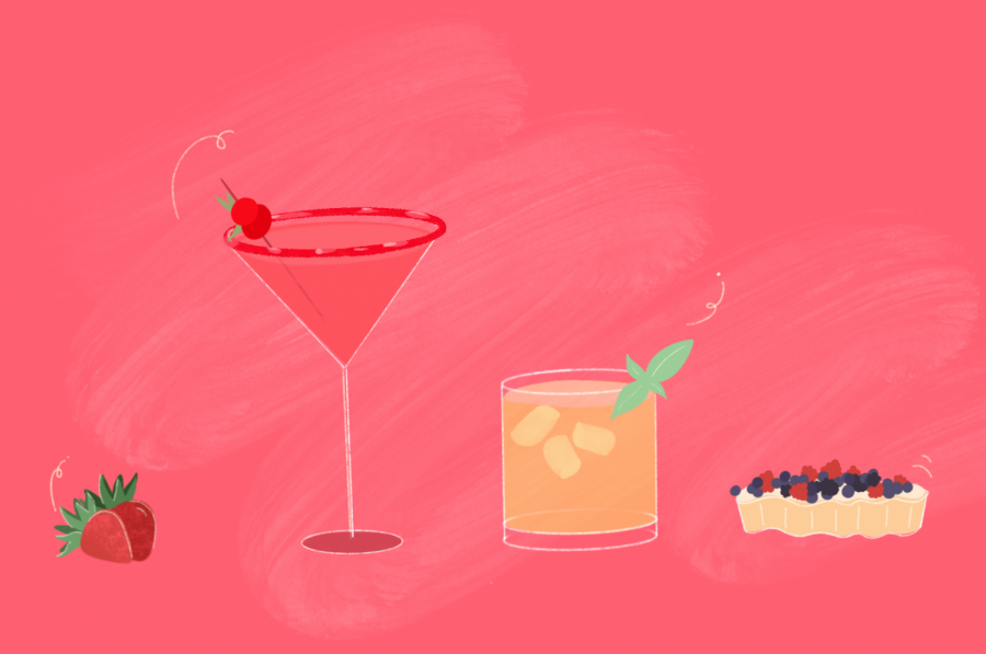 Spring food illustration